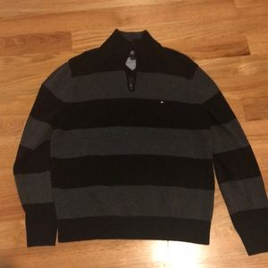 Tommy Hilfiger Grey and Black Sweater